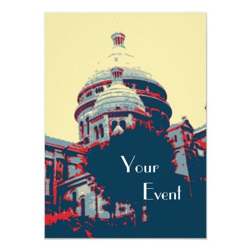 Invitación del acontecimiento de Montmartre de la