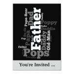 Invitación del acontecimiento del día de padre