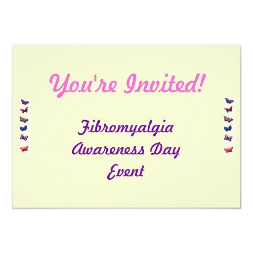 Invitación del acontecimiento del Fibromyalgia