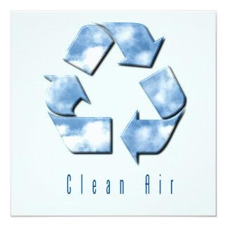 Invitación del aire limpio