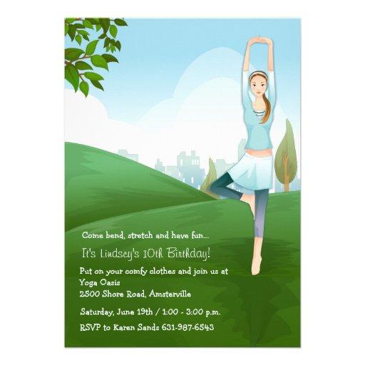 Invitación del alcohol de la yoga