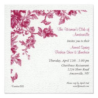 Invitación del alumerzo de la primavera de