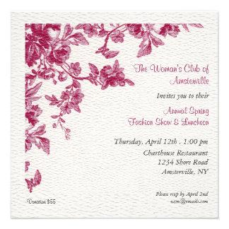 Invitación del alumerzo de la primavera de Camelia