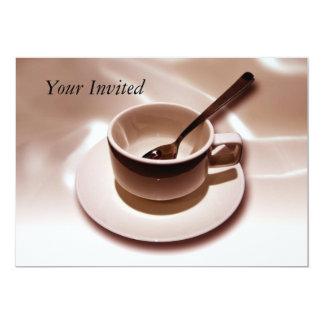 Invitación del amante del café