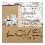Invitación del amor de la playa de las estrellas