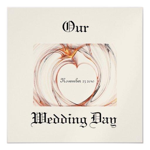 Invitación del amor del día de boda