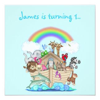 Invitación del animal de la arca de Noahs