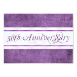 Invitación del aniversario de boda de la púrpura