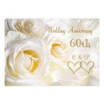 Invitación del aniversario de boda de los rosas bl