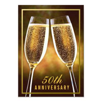 Invitación del aniversario de boda de oro