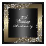 Invitación del aniversario de boda elegante del ne