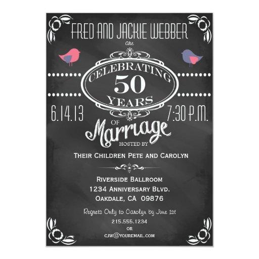 Invitación del aniversario de los pájaros 50.os