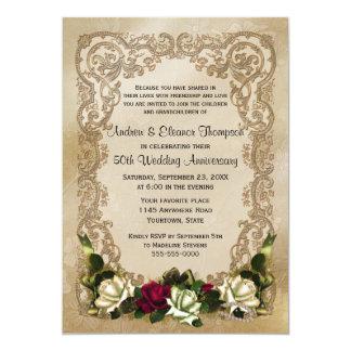 Invitación del aniversario de los rosas de