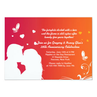 Invitación del aniversario del beso de los amantes