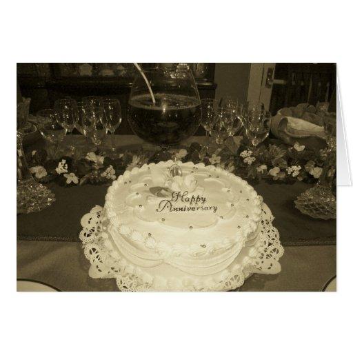 Invitación del aniversario tarjeta de felicitación
