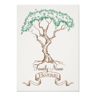 Invitación del árbol de la reunión de familia invitación 12,7 x 17,8 cm