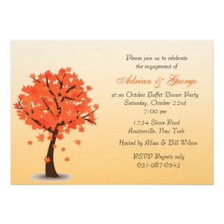 Invitación del árbol del otoño