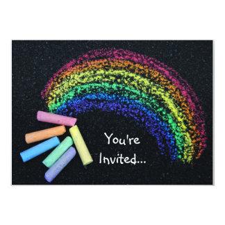 Invitación del arco iris invitación 12,7 x 17,8 cm