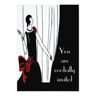 Invitación del art déco invitación 12,7 x 17,8 cm