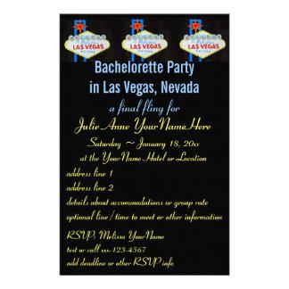 Invitación del aviador del fiesta de Las Vegas Bac Personalized Stationery