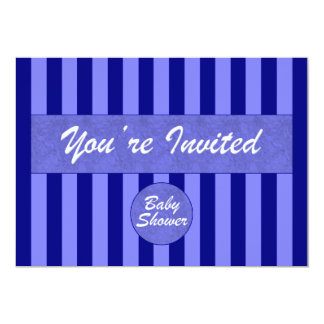 Invitación del azul de la fiesta de bienvenida al