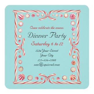Invitación del azul del fiesta de la hierbabuena