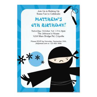 Invitación del azul del poder de Ninja