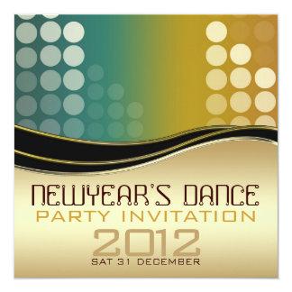 Invitación del baile de DJ del club del Año Nuevo