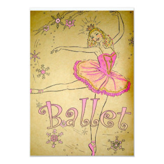 Invitación del ballet del vintage