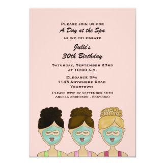 Invitación del balneario del cumpleaños