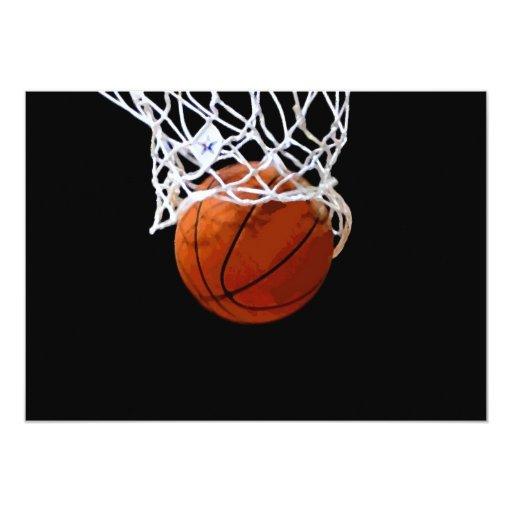 Invitación del baloncesto