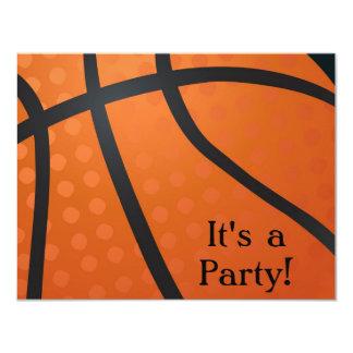 Invitación del baloncesto invitación 10,8 x 13,9 cm