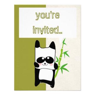 invitación del bambú de la panda