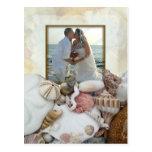 Invitación del banquete de boda del marco de la tarjetas postales