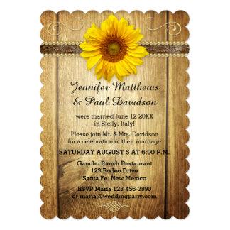 Invitación del banquete de boda del poste del