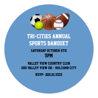 Invitación del banquete de los deportes