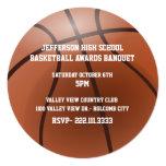Invitación del banquete de premios del baloncesto invitación 13,3 cm x 13,3cm