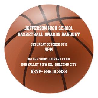 Invitación del banquete de premios del baloncesto