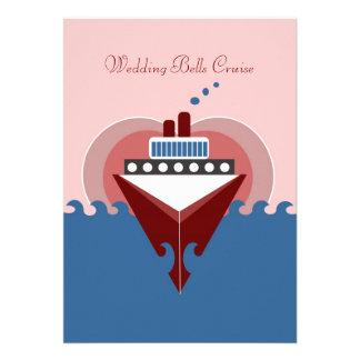 Invitación del barco de cruceros de Belces de boda
