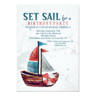 Invitación del barco de la acuarela