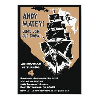 Invitación del barco pirata - Brown