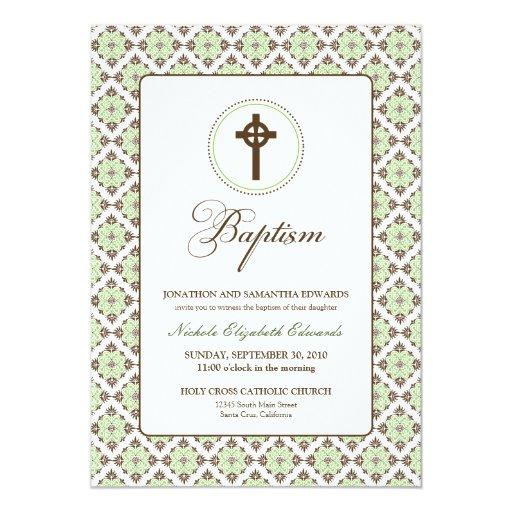 Invitación del bautismo 5x7 de la tolerancia del