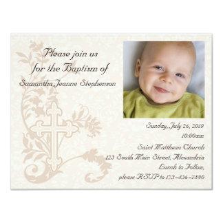Invitación del bautismo de la foto del bebé