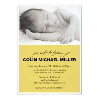 Invitación del bautismo del bebé