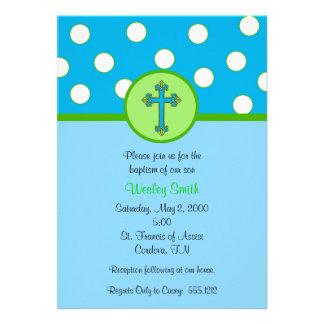 Invitación del bautismo del muchacho