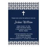 Invitación del bautizo del bautismo de los azules