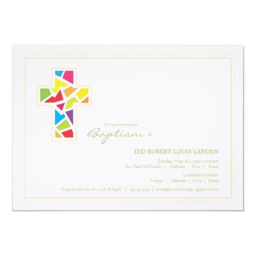 Invitación del bautizo del bautismo el | invitación 12,7 x 17,8 cm