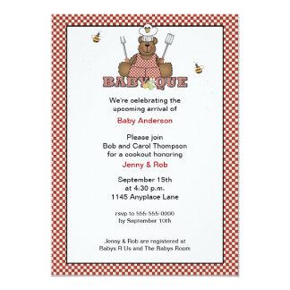 Invitación del Bbq de la fiesta de bienvenida al