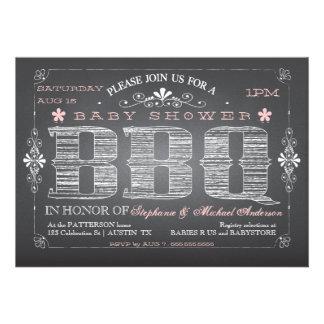 Invitación del Bbq de la fiesta de bienvenida al b