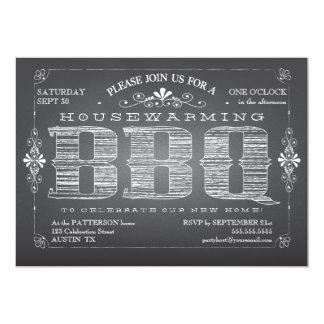 Invitación del Bbq del estreno de una casa de la